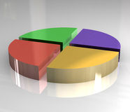 3d pictograph of pie chart. 3d made pictograph of pie chart Stock Photography