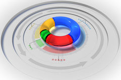 3D pie chart Royalty Free Stock Images