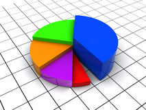 3d pie chart Stock Image