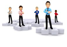 3D pieces of a business puzzle Stock Images