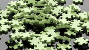 3D pieces of puzzle. Randomly piled Royalty Free Stock Photo