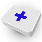 3d pierwszej pomocy pudełko Obrazy Royalty Free