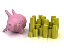 3d piggy bank Stock Photos