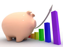 3d piggy bank concept Stock Photos