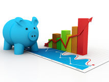 3d piggy bank concept Royalty Free Stock Images