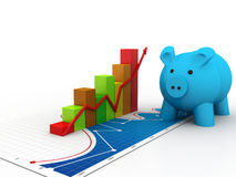 3d piggy bank concept Royalty Free Stock Image