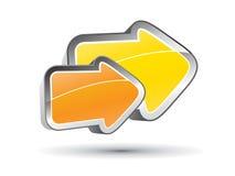 3D pijlconcept Stock Foto's