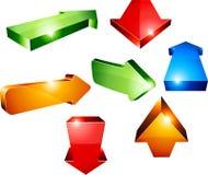 3d pijlen. Royalty-vrije Stock Afbeeldingen