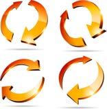 3d pijlen. Royalty-vrije Stock Afbeelding