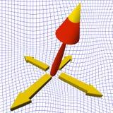 3d pijlenachtergrond Stock Afbeelding