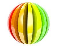 3d piłki barwionej ikony odosobniony biel Fotografia Stock