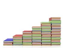 3D Pile of books Royalty Free Stock Photo
