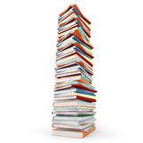 3d pile of books on white background Stock Image
