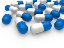 3d pill blue white Royalty Free Stock Photo