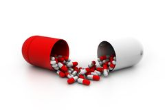 3d pills Stock Photo