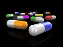 3d pills Royalty Free Stock Photos
