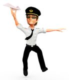 3D pilot Royalty Free Stock Photo