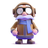 3d Pilot ready to fly Stock Images