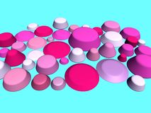 3D- Pink and blue stock illustration