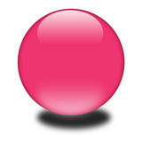 3d pink colored sphere Royalty Free Stock Images