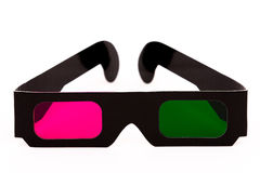 3D pink en green glasses front Royalty Free Stock Images