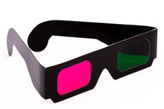 3D pink en green glasses side Royalty Free Stock Photos