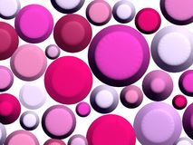 3D - Pink Sweets On White Royalty Free Stock Images