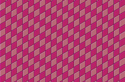 3d pink tiled wall floor pattern Royalty Free Stock Photos
