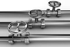 3d pipelines blank white Royaltyfri Fotografi
