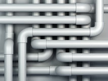 3D pipes. A maze of 3D pipes abstract Royalty Free Stock Photos
