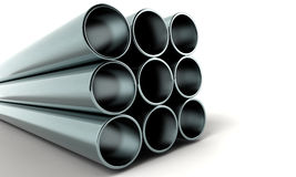 3d pipes Stock Photography