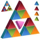 3D Piramide - Roze Royalty-vrije Stock Foto's