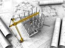 3D plan drawing stock illustration