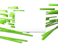 3d plane for text over green crossing lines Royalty Free Stock Photography