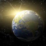 3D Planeet van de Aarde Stock Afbeelding