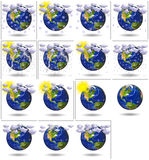 3D Planeet van de Aarde voor weerrapport Royalty-vrije Stock Fotografie