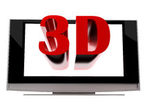 3d plasma lcd tv Royalty Free Stock Image