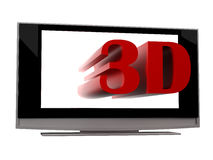 3d plasma lcd tv Stock Photo