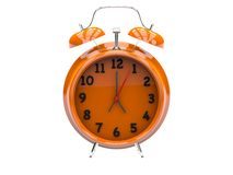 3D plastic alarm clock Stock Photo