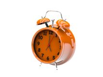 3D plastic alarm clock Royalty Free Stock Image