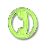 3d plastic phone icon. Web site and business phone icon in 3D royalty free illustration