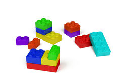 3d plastic toy blocks Stock Photo