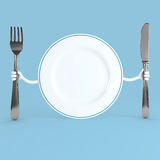 3d plate royalty free illustration