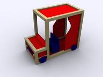 3d PlayCar illustrazione di stock