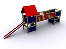 3d PlayHouse. 3d rendered image of a ToyHouse Royalty Free Stock Photos