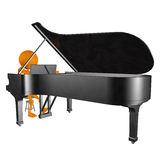 3d playing piano Royalty Free Stock Photos