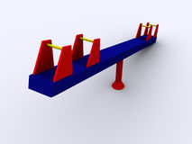 3d PlaySeesaw Royalty Free Stock Images
