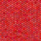 3d pluizige ballen in veelvoudige rozerode kleuren Royalty-vrije Stock Fotografie
