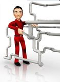 3D plumber Royalty Free Stock Photography