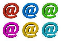 3d poczta znak Obraz Royalty Free